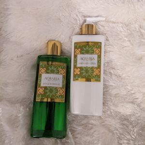 Agraria Lime and Orange Body Wash and Lotion Duo